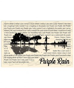 Prince - Purple Rain lyrics poster
