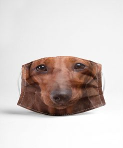 Red short hair dachshund 3D Mask 1