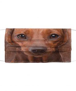 Red short hair dachshund 3D Mask