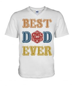 Ruby Dragon Best Dad Ever V-neck