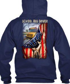 School Bus Driver American Flag Hoodie
