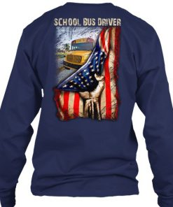 School Bus Driver American Flag Long sleeve