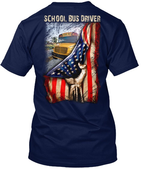 School Bus Driver American Flag T-shirt