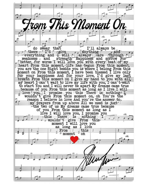 Shania Twain - From This Moment On lyrics poster