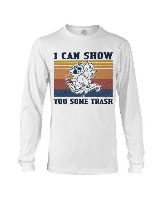 Show You Some Trash Raccoon Retro long sleeved