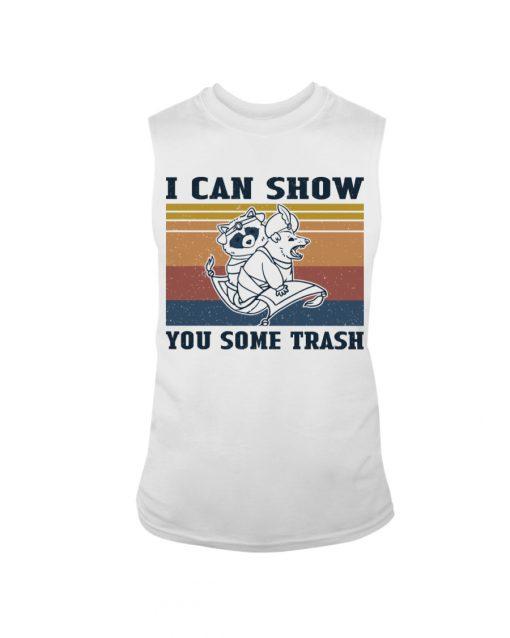 Show You Some Trash Raccoon Retro tank top