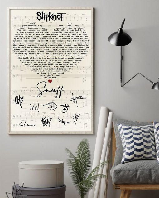 Slipknot – Snuff Lyrics signatures poster 1
