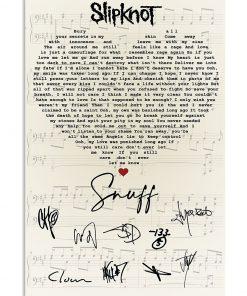 Slipknot – Snuff Lyrics signatures poster 2