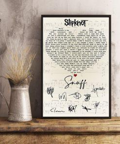Slipknot – Snuff Lyrics signatures poster 4