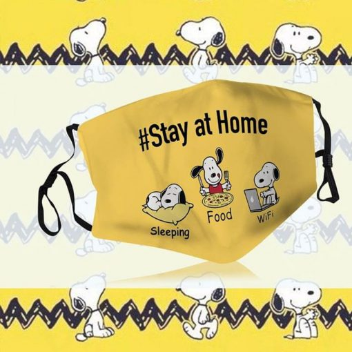 Snoopy Stay At Home Sleeping Food Wifi mask