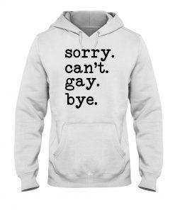Sorry I can't gay bye hoodie