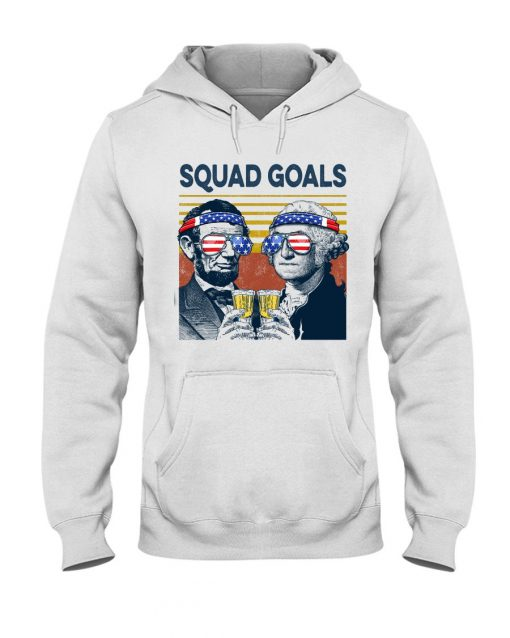 Squad Goal Benjamin Franklin and Abraham Lincoln Beer Hoodie