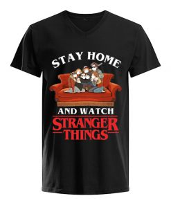Stay Home and watch Stranger Things v-neck