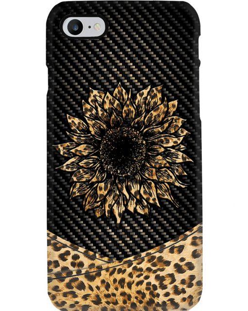 Sunflower Leopard Skin phone case 7