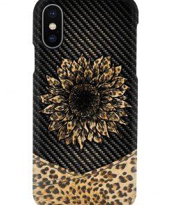 Sunflower Leopard Skin phone case x