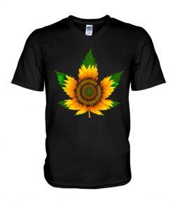 Sunflower Weed shirtv-neck