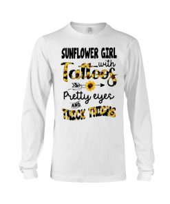 Sunflower girl with tattoos pretty eyes thick thighs long slveeved