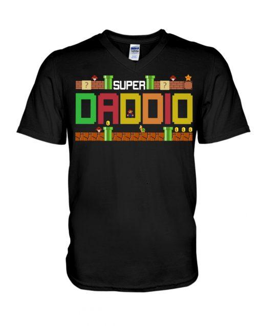 Super Dadio Mario game V-neck