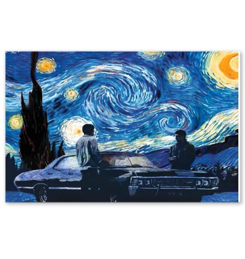 Supernatural car - Starry Night poster1