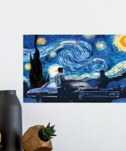 Supernatural car - Starry Night poster2