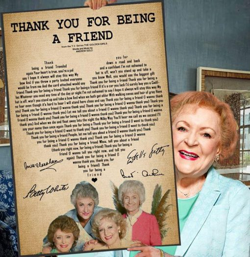 Thank you for being a friend Lyrics Golden girl poster