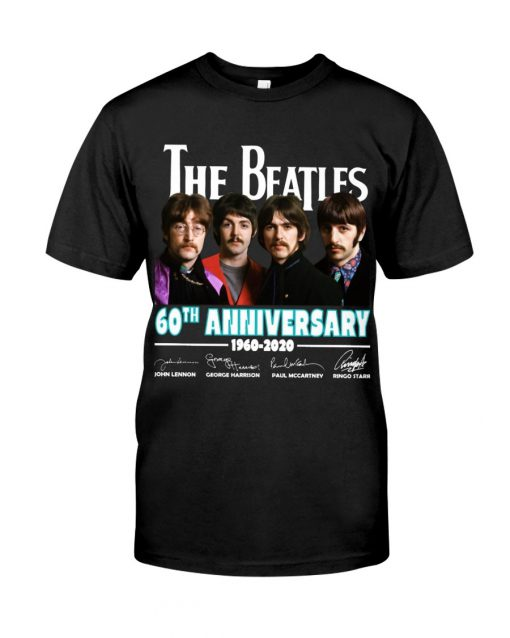 The Beatles 60th Anniversary 1960-2020 T-shirt