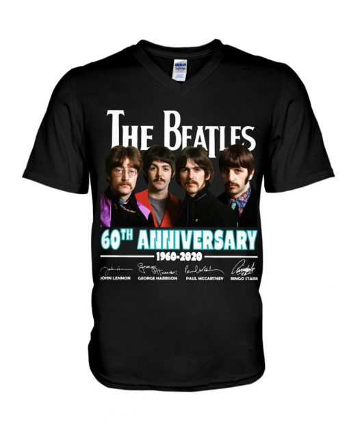 The Beatles 60th Anniversary 1960-2020 V-neck