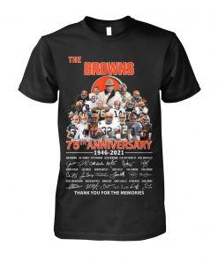 The Cleveland Browns 75th Anniversary signatures T-shirt