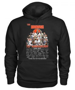 The Cleveland Browns 75th Anniversary signatures hoodie