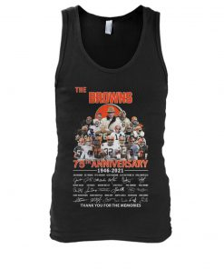 The Cleveland Browns 75th Anniversary signatures tank top