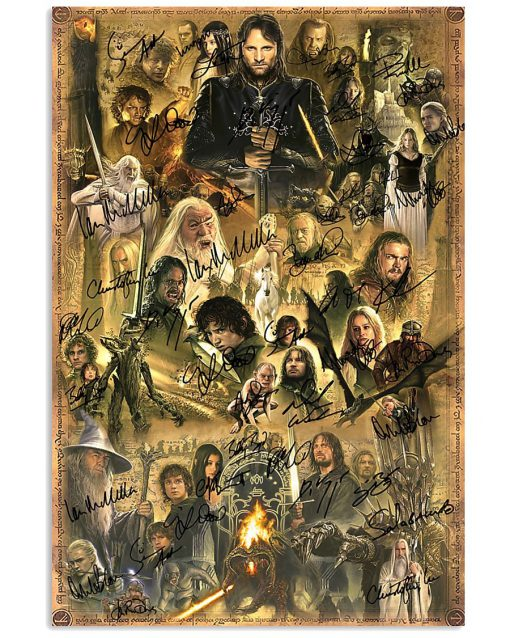 The Lord of the Rings Characters signatures poster