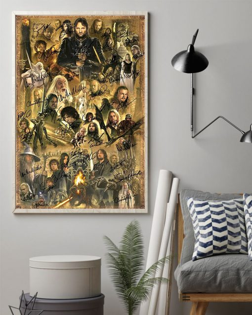 The Lord of the Rings Characters signatures poster1