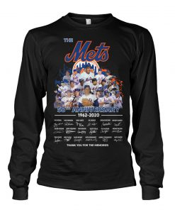 The New York Mets 58th Anniversary 1962-2020 signatures long sleeved