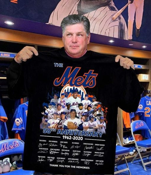 The New York Mets 58th Anniversary 1962-2020 signatures shirt 0