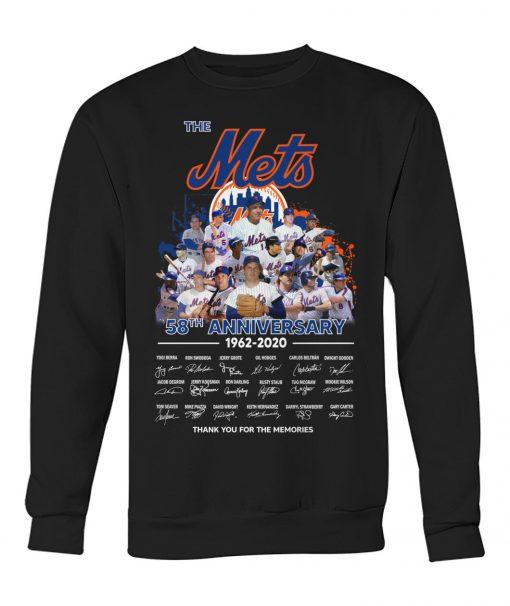The New York Mets 58th Anniversary 1962-2020 signatures sweatshirt