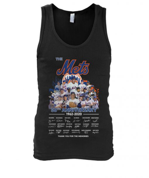The New York Mets 58th Anniversary 1962-2020 signatures tank top