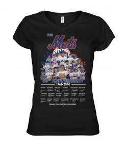 The New York Mets 58th Anniversary 1962-2020 signatures v-neck