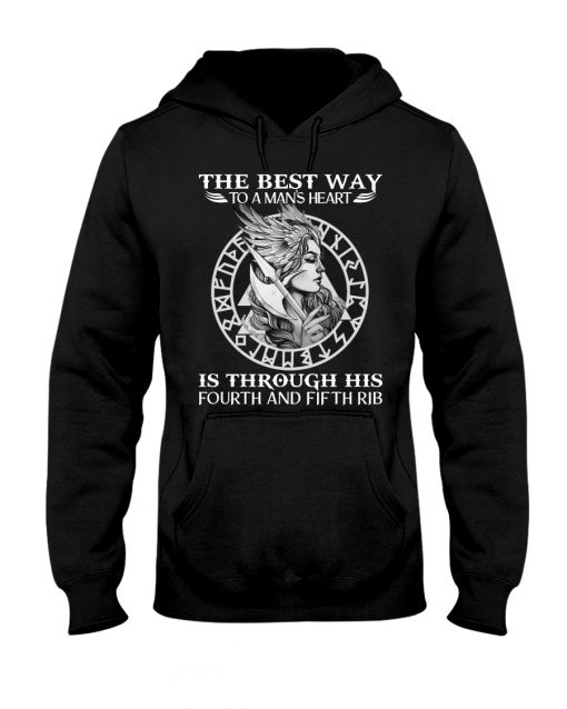 The best way to a man's heart is through the fourth and fifth rib hoodie