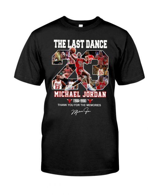 The last dance Michael Jordan Thank you for the memories T-shirt