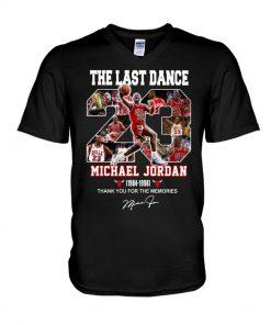 The last dance Michael Jordan Thank you for the memories V-neck