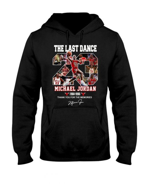 The last dance Michael Jordan Thank you for the memories hoodie