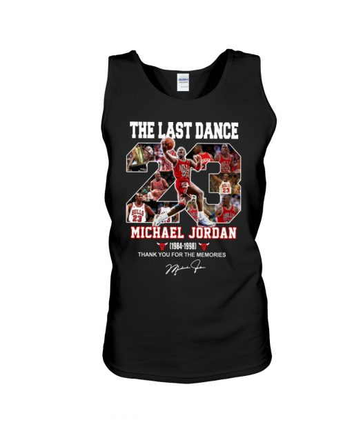 The last dance Michael Jordan Thank you for the memories tank top
