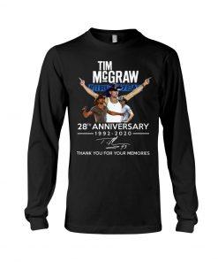 Tim McGraw 28th Anniversary 1992-2020 Long sleeve