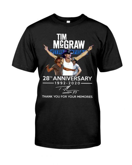 Tim McGraw 28th Anniversary 1992-2020 T-shirt
