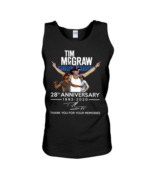 Tim McGraw 28th Anniversary 1992-2020 Tank top