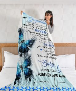 To my granddaughter Wherever your journey In life may take you i pray you'll always be safe fleece blanket 4