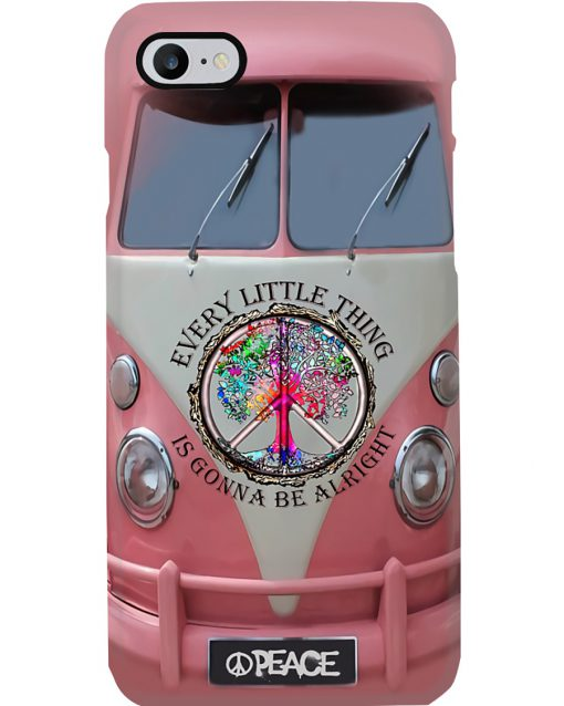 VW Volkswagen Bus Every little thing is gonna be alright phone case 7