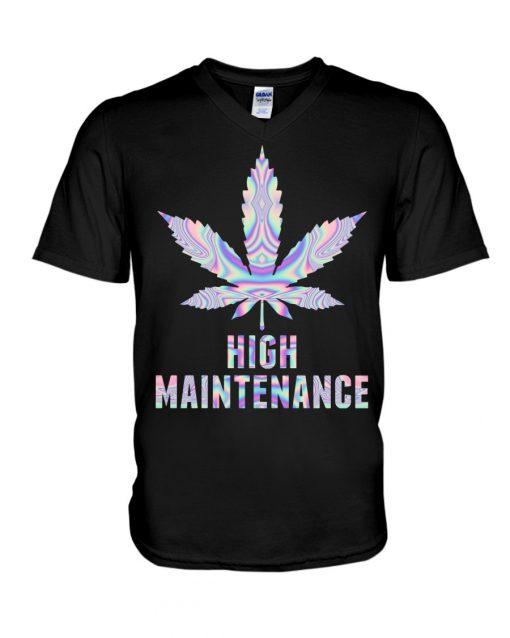 Weed High Maintenance V-neck