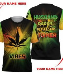 Weed Husband Daddy Protector Stoner 3D hoodie3