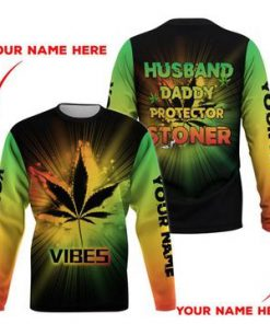 Weed Husband Daddy Protector Stoner 3D hoodie4